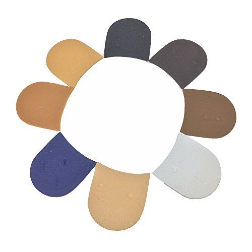 Schuh-Ersatz-Gummi-Halbsohle, Gummiplatte, Dicke und Farbe wählen, Packung mit 1 Paar Natual