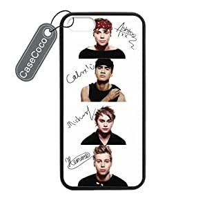 5 Seconds of Summer 5 SOS Custom Skin Shield for Case For Iphone 4/4S Cover Laser Technology