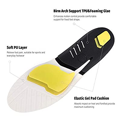 GAOAG Acupressure Massage Insoles Foot Magnet Therapy Reflexology Pain Relief Shoe Insoles ...