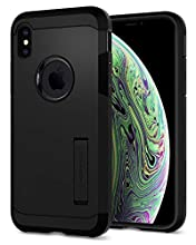 Spigen Funda Tough Armor Compatible con Apple iPhone XS/X, Doble Capa y Protección Extrema contra caídas - Negro