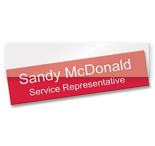 "Clear Plastic Nameplate Insert - Pack of 10 (10"" x 2"")"