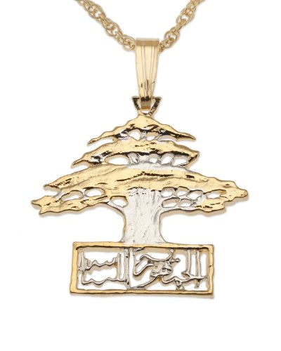 The Difference World Coin Jewelry Cedar Tree of Lebanon Pendant & Necklace