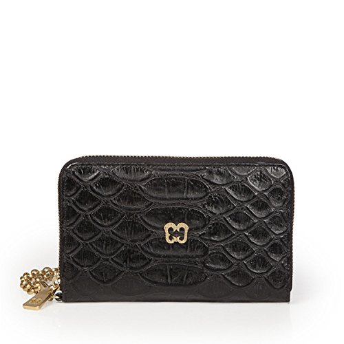 Eric Javits Luxury Fashion Designer Women's Handbag - Smartphone Wristlet - Black by Eric Javits