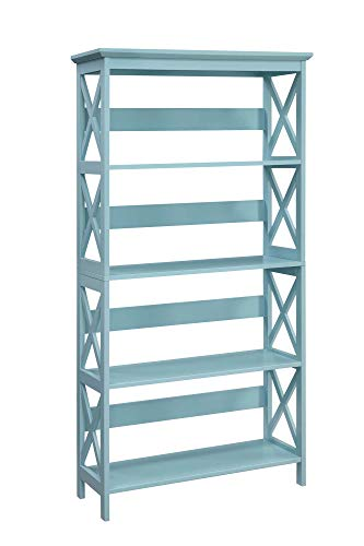 Convenience Concepts 203050SF Oxford 5 Tier Bookcase, Sea Foam ()