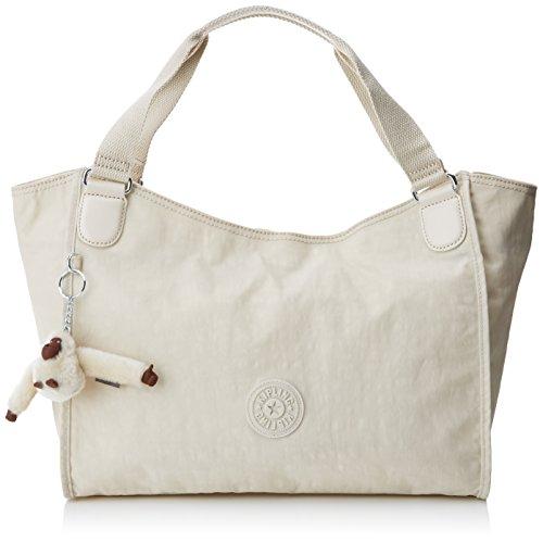Kipling - Sarande N, Shoppers y bolsos de hombro Mujer, Off-White (Rainy Day), 45.5x28.5x16.5 cm (W x H L)