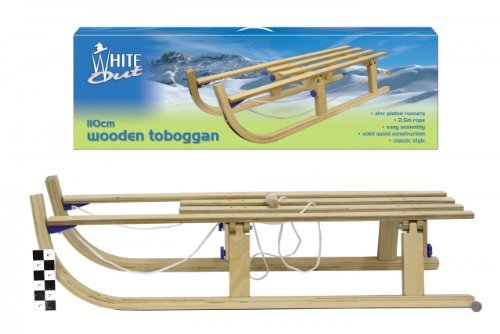 White Out Sleds White Out - 110Cm Wooden Toboggan / Sleigh / Sledge