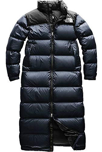 - The North Face Womens Nuptse 700 Fill Goose Down Duster, Urban Navy, XL