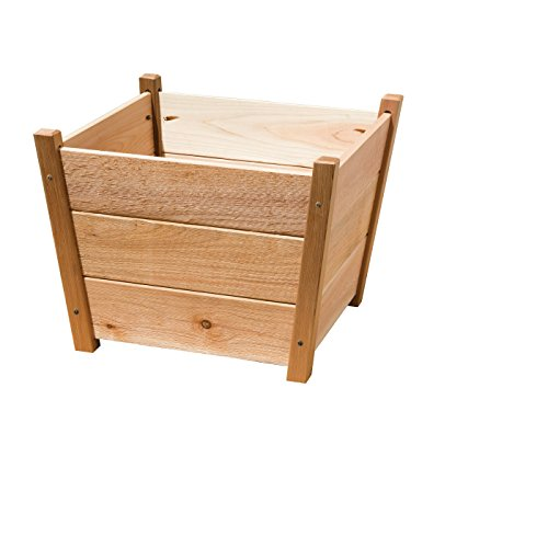 Phat Tommy Patio & Garden Cedar Square Planter Box – For Backyard Flowers & Plants, Made in the USA by Phat Tommy