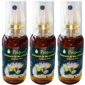 プロポリススプレー 蜂蜜味 (35ml)3本 B008RKSROG