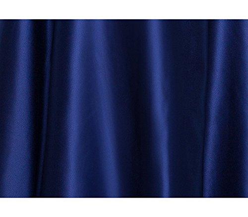 Drasawee Satin De Dentelle Épaule Femmes Empire Bal De Demoiselle D'honneur Parti Robes Formelles Bleuroyale
