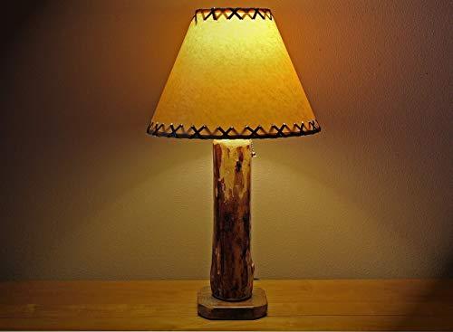 The Sawtooth Mountain Log Table Lamp w/12