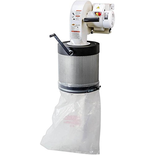 Shop Fox W1826 Wall Dust Collector, 2.5 Micron Filtration