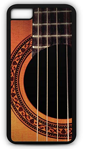 iPhone 8 Plus 8+ Case Acoustic Guitar Lesson Play Music Musical Instrument Customizable by TYD Designs in Black Plastic Black Rubber Tough Case