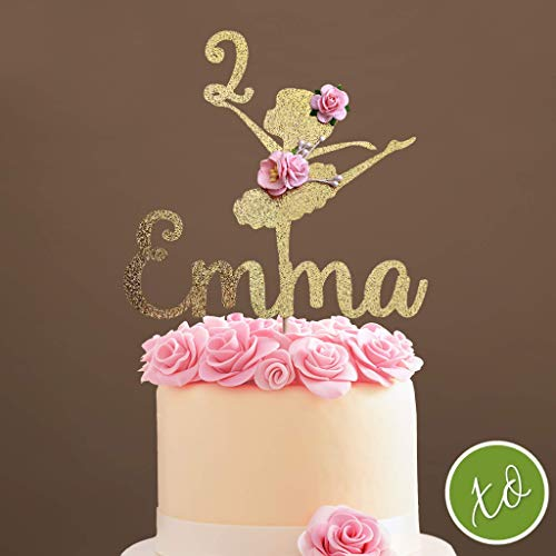 Ballerina Cake Topper, Ballerina Centerpieces, Ballerina Party Birthday Decorations - Custom Ballerina Cake Topper]()
