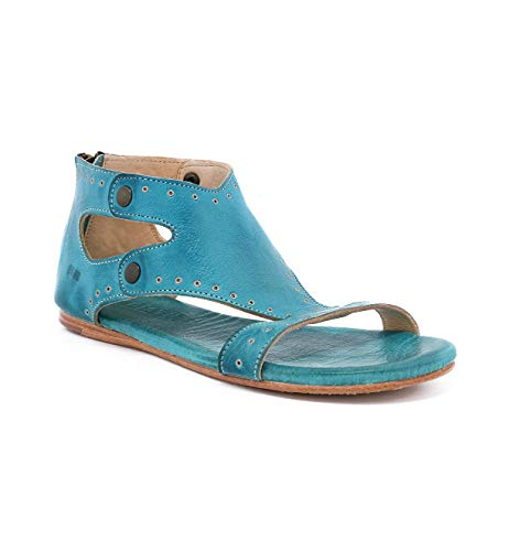 Bed|Stu Women's Soto G Leather Sandal (9.5 M US, Fog Rustic)