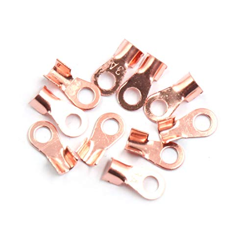 Sourcingmap 10pcs 3A Copper Ring Terminals Lug Battery Cable Connector: