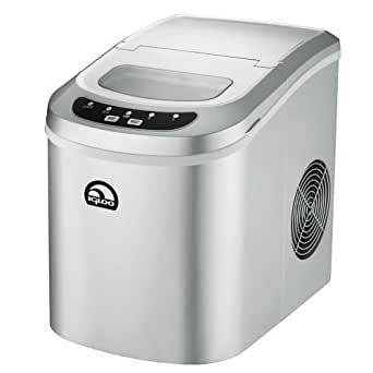 Igloo ICE102C-SILVER Counter Top Ice Maker, Silver