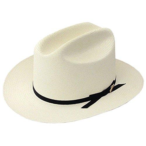 Stetson Men's White Shantung Open Road Hat Natural 7 5/8