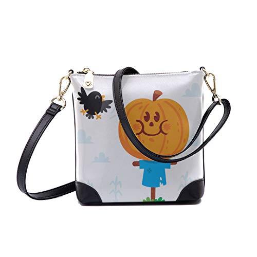 (Shoulder Bag Halloween Clipart Cute Sweet Scarecrow Pumpkin For Women Bucket)