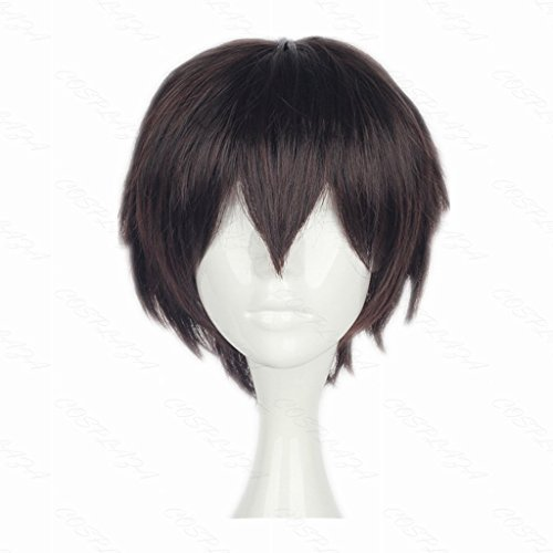 COSPLAZA Cosplay Wig Short Brown Boy Anime Hair Heat Resistant Synthetic Wig]()