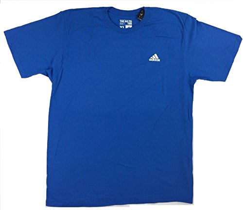 adidas Mens Go-to Short-Sleeve Crew Tee (Medium, Bright Royal)