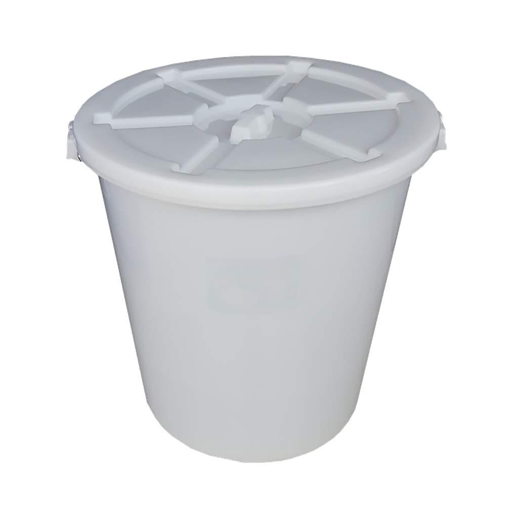 ふたが付いている白いプラスチックバケツ、水貯蔵容器、肥厚した工業用バレル、丸いバケツホテルの台所ワイン樽のゴミ箱 * (Size : 100l)  100l