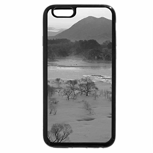 iPhone 6S Case, iPhone 6 Case (Black & White) - Winter in Violet