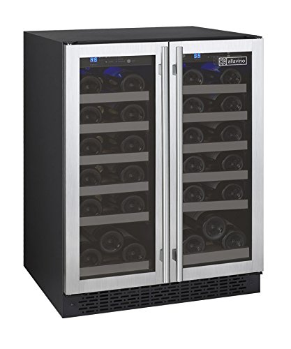 Allavino FlexCount VSWR36-2SSFN - 36 Bottle Dual Zone Wine Refrigerator with...