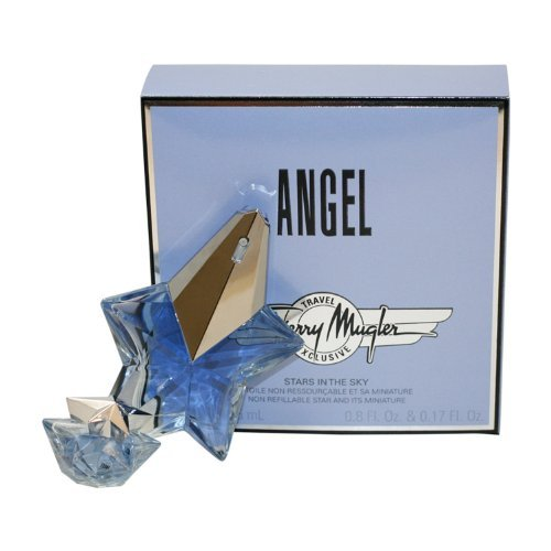 Angel By Thierry Mugler For Women. Eau De Parfum Spray 0.8 Oz + The Stars Miniature Collectible 0.17 (0.17 Ounce Miniature Collectible)