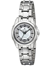 Bulova Women's Precisionist Longwood MOP Dial Steel Bracelet Watch White 96M108