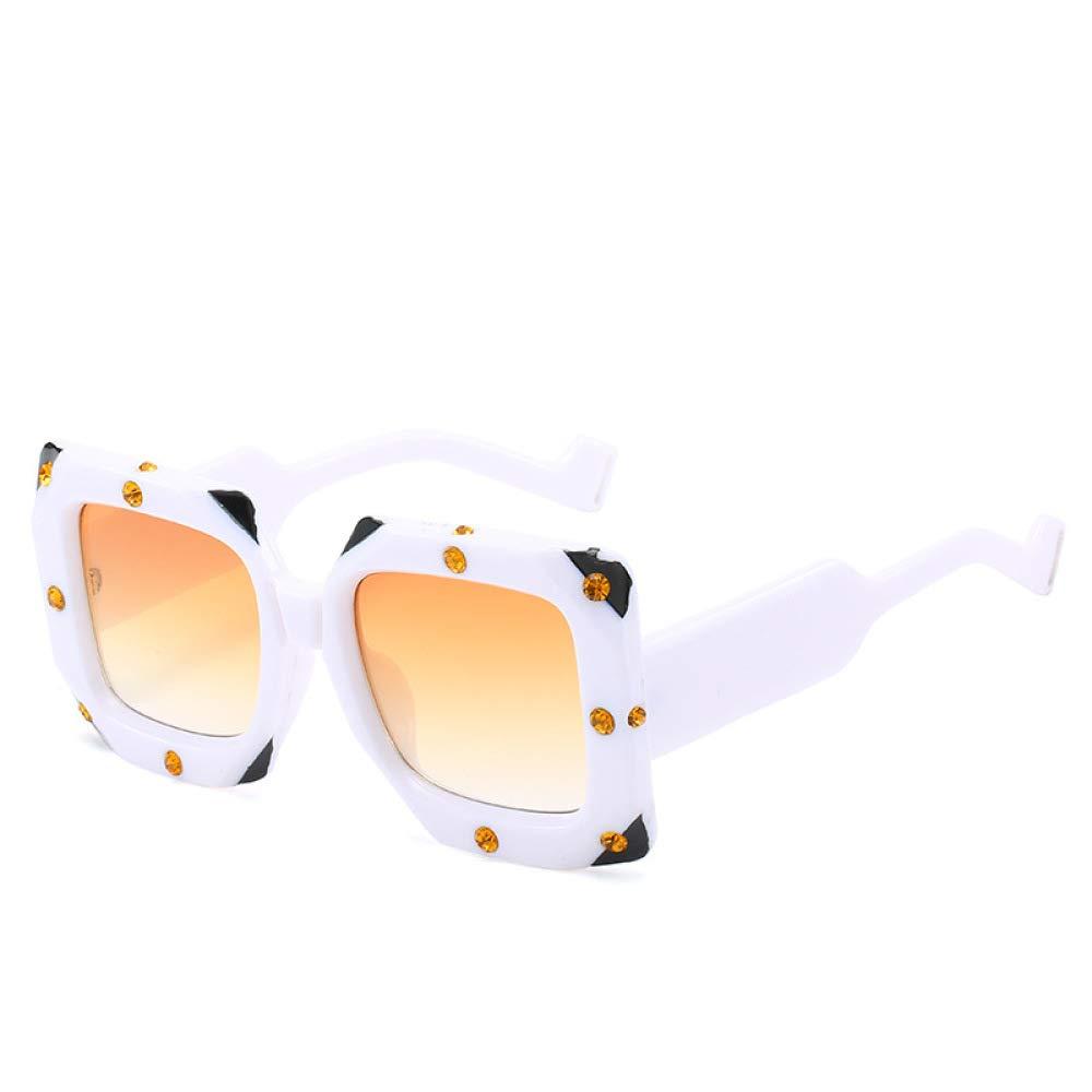 Yangjing-hl Gafas de Sol de Diamante Gafas de Sol de Moda ...