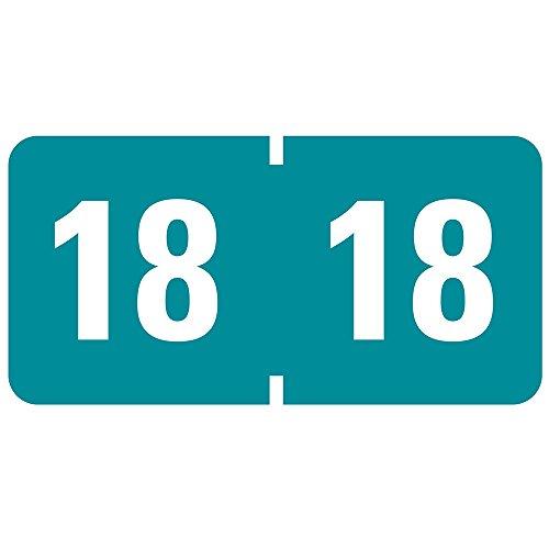Smead ETYJ- Etiquetas autoadhesivas con código de color para el año 2015, 3.81 cm de ancho x 1.9 cm de alto, 500 etiquetas...