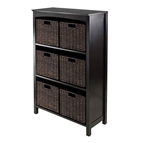 Winsome Terrace 7-Piece Storage Shelf/Bookcase, 26 by 11.8 by 43-Inch ()