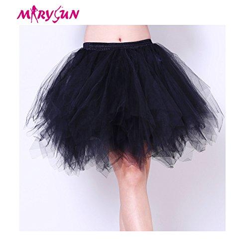 Adult Tutu Women Black 50s 80s Costume Vintage Petticoat
