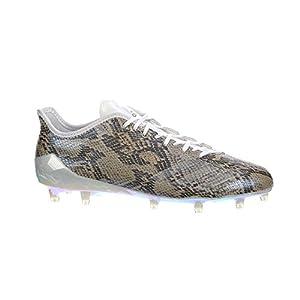 adidas Adizero 5Star 6.0 Uncaged Cleat Men's Football 8.5 Rattlesnake Print-White-Metallic Gold
