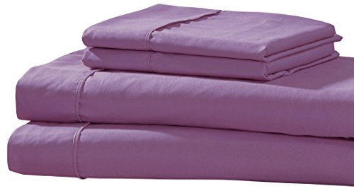 RT Designers Collection Golden Nights Pillowcase and Sheet Set, King, Lilac