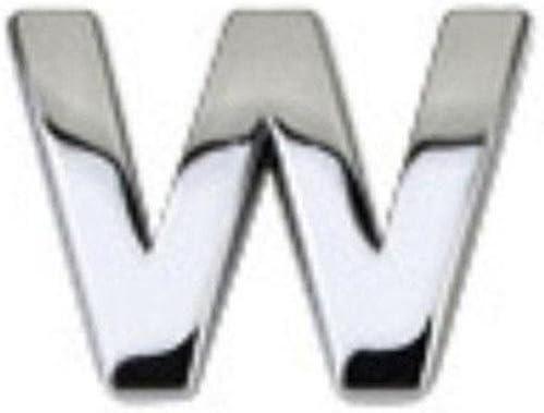 TR.OD DIY 3D Metallic Alphabet Sticker Car Emblem Letter Silver Badge Decal R A-Z/&0-9