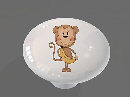 Monkey Knob (Banana Monkey High Gloss Ceramic Drawer Knob)
