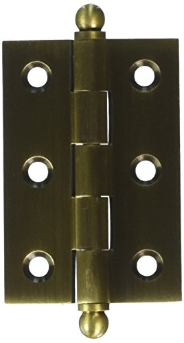 - Deltana CH2517U5 Solid Brass 2-1/2-Inch x 1-11/16-Inch Cabinet Hinge with Ball Tips
