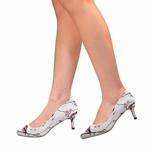 Tallone Basso Gattino Micio Aguzzo Scarpe Da Ginnastica Scarpe Con Volantini Sul Ramo Sakura Multi 1