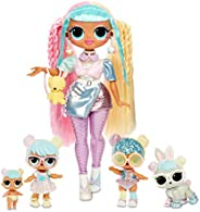 LOL Surprise OMG Bon Bon Family with 45+ Surprises Including Candylicious OMG Doll, Bon Bon, Bling Bon Bon, Li
