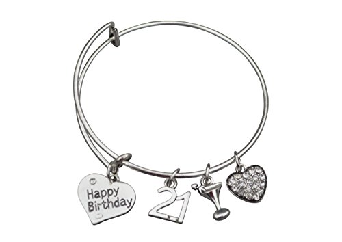 21st-Birthday-Gifts-for-Her-21st-Birthday-Expandable-Charm-Bracelet-Adjustable-Bangle-Perfect-21st-Birthday-Gift-Ideas