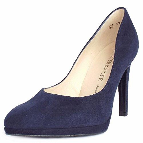 Peter Kaiser Herdi De Aguja Corte Zapatos En Gamuza Azul Marino NOTTE SUEDE