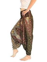 d5390521340 Women s Peacock Print Aladdin Harem Hippie Pants Jumpsuit