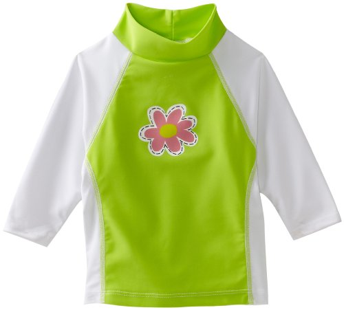 Flap Happy Baby Girls' Screen Printed Rash Guard Shirt