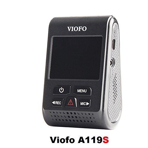 VIOFO A119S Full HD 1080p 60fps Car Dash Camera with Sony Exmor IMX291 Sensor (V2 Model) + 90 Degree miniUSB Adapter