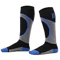 Halconia Kids Merino Wool Ski Socks Full Terry Skiing Socks, Splice Royal, L