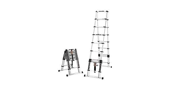 BAIF Escalera telescópica en Espiga, aleación de Aluminio Plegable telescópica Escalera Espacial portátil para escaleras de construcción doméstica Escalera de gabinete Elevador Escalera Plegable: Amazon.es: Hogar
