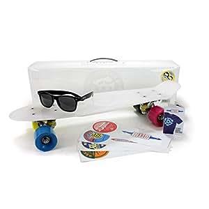 Stereo Vinyl Cruiser Complete Skateboard Clear W/Shades