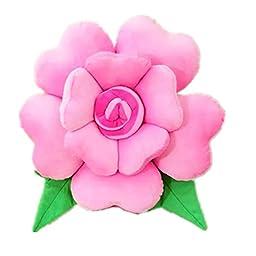 Moolecole Lovely Pillow Creative Simulation Rose Cushion Heart Shaped Petal Pillow Cute Cushions Bolster Great Gift Present Nap Pillow Pink 50cm